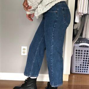 Levi's Jeans - Vintage Levi 569 Medium Dark Denim Crop Flare Jean